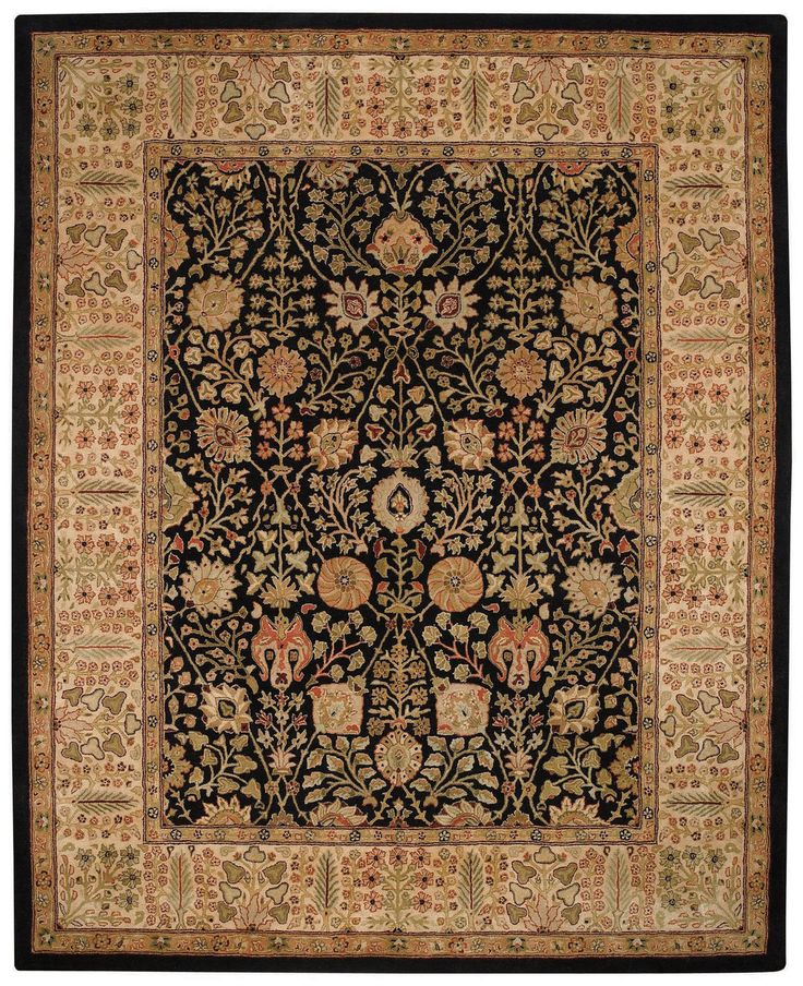 """The world's best selling hand tufted rug! Inspired by Persian motifs traditionally found only in the finest 9x9 hand knotted pieces. Created with only 100% New Zealand long staple wool. Hand spun yarns add texture to rugs that will bring grace and dignity to your home. An antique wash enhances the character and depth of color. 46,000 yarn tufts per running foot. A National Rug Council """"Best Buy"""". Professionally clean. Made in India."""
