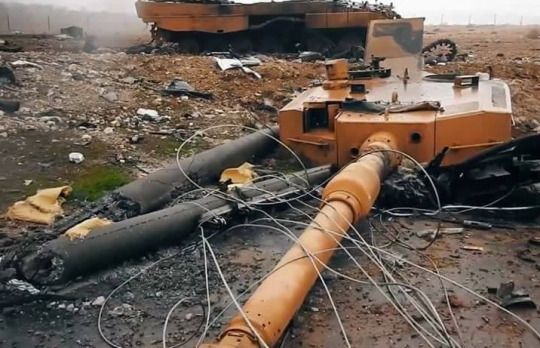 Military and AviationOperation Euphrates Shield, AKA the Turkish intervention in the Syrian civil War, destroyed Turkish Army Leopard 2A4 tanks, somewhere in North Aleppo.