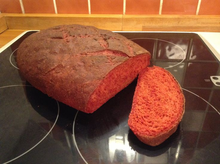 Delicious beetroot bread baked this evening!