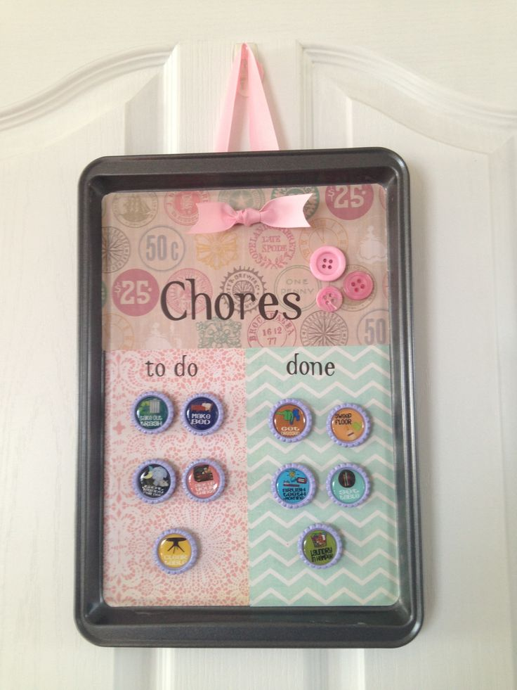 Children's magnetic Chore Board www.fb.com/TooChicMamas