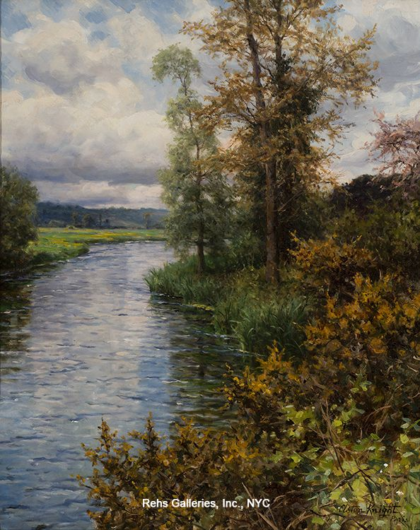 Louis Aston Knight (1873 - 1948) A River Landscape - Fall Oil on canvas Signed and inscribed Paris