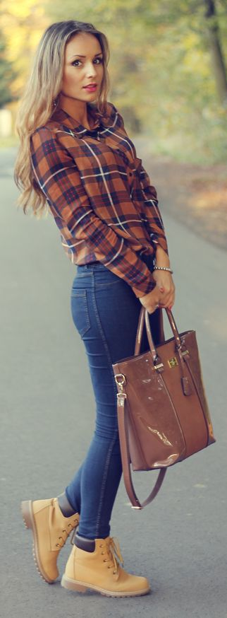 Love tartan with timberlands!