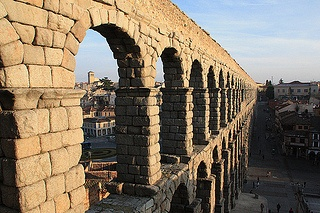Roman Aqueduct - Segovia by Context Travel, via Flickr  - One of our excursions from Madrid    #spain