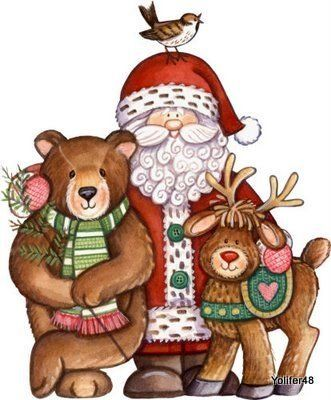 Flores & MimosClipart Christmas, Santa Clause, Clipart Image, Christmas Fun, Christmas Clipartimag, Christmas Traditional, Christmas Image, Holiday Christmas, Clips Art