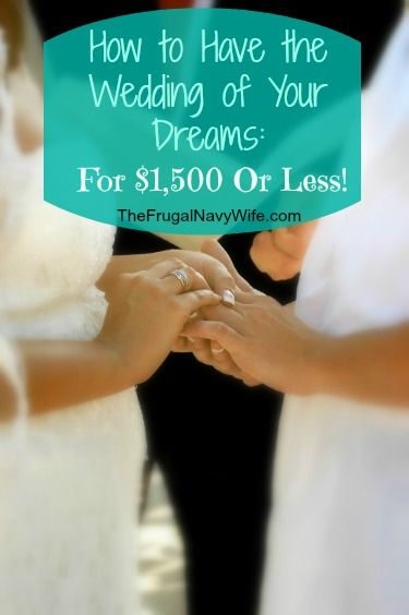 How to Have the Wedding of Your Dreams for $1500 or LESS! #budget #wedding #savemoney