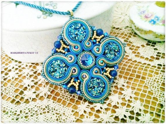 https://www.etsy.com/listing/156346087/ooak-soutache-embroidery-handmade?ref=shop_home_active OOAK Soutache embroidery handmade pendant. by 75marghe75 on Etsy, $100.00