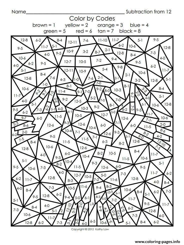 Print color by number adults maths coloring pages ...