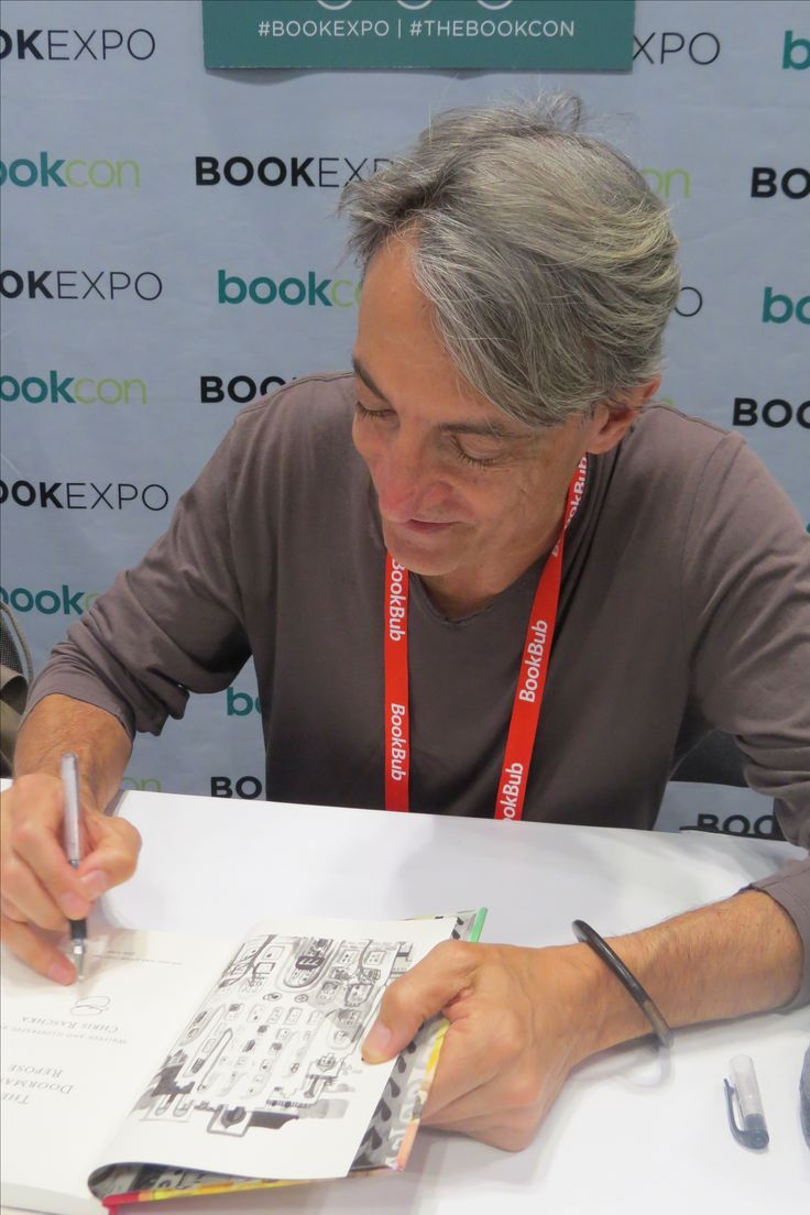 Author Chris Raschka at BookExpo 2017 in New York City