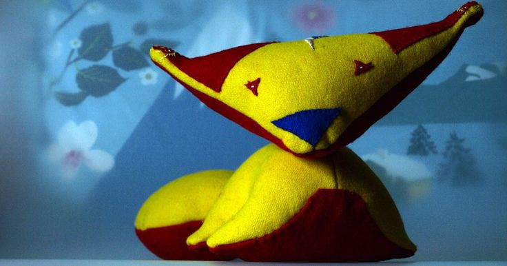 #handmade, #toy, #stuffed, #fox, #sewing, #children, #art, #art toy