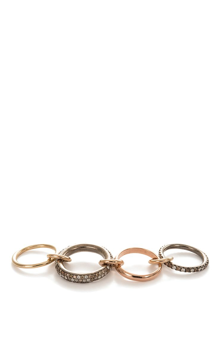 Scorpio Linked Rings by Spinelli Kilcollin for Preorder on Moda Operandi