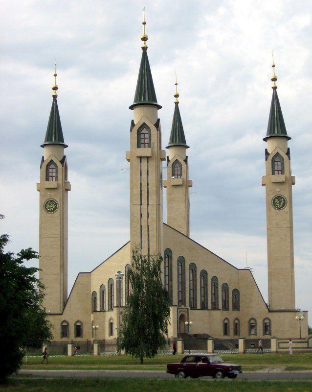 Nizhnekamsk Main Mosque in Republic of Tatarstan, Russia