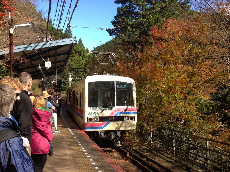 Kibune Station, Eiden train, Nov 2016