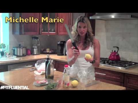 ▶Rosemary/thyme/lemon: Healthy Chicken Marinade with Michelle Marie Fit - YouTube  #FitFluential
