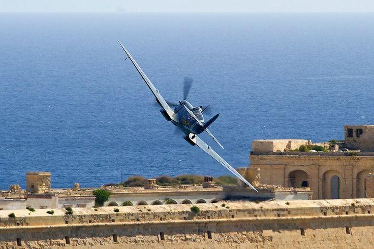 Spitfire over Malta, pin by Paolo Marzioli