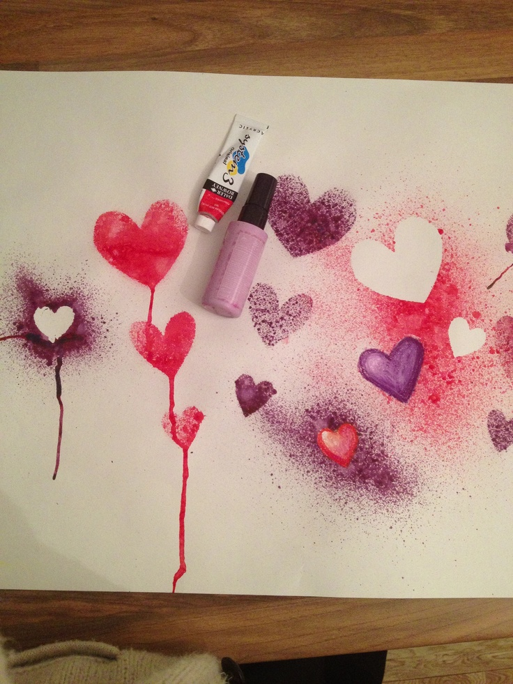 Cheap spray paints- half acrylic paint and half water.