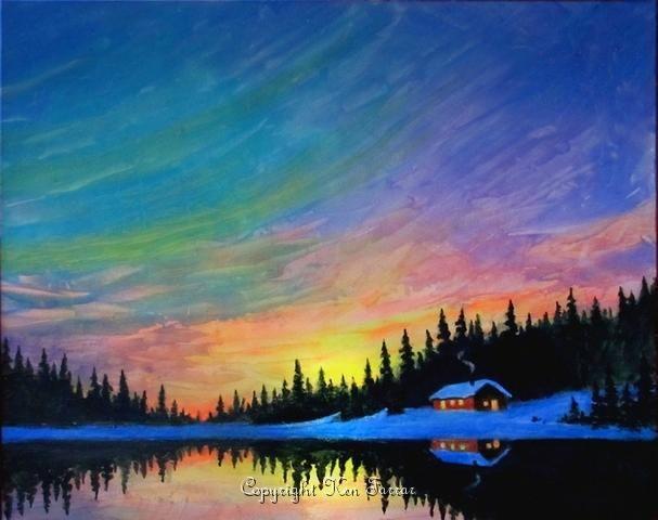 Watercolor Painting Ideas Landscape Easy