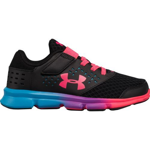 8f67d52f04eb Under Armour Girls  Rave AC Prism Running Shoes (Black