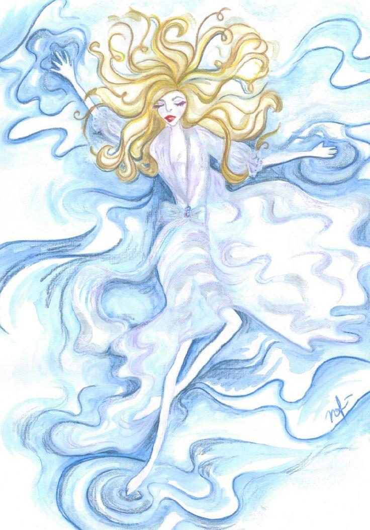 Esprit d'eau Watercolour on textured card