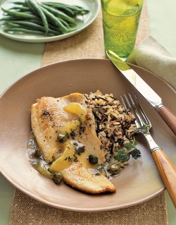 Trout with Fresh Lemon and Capers