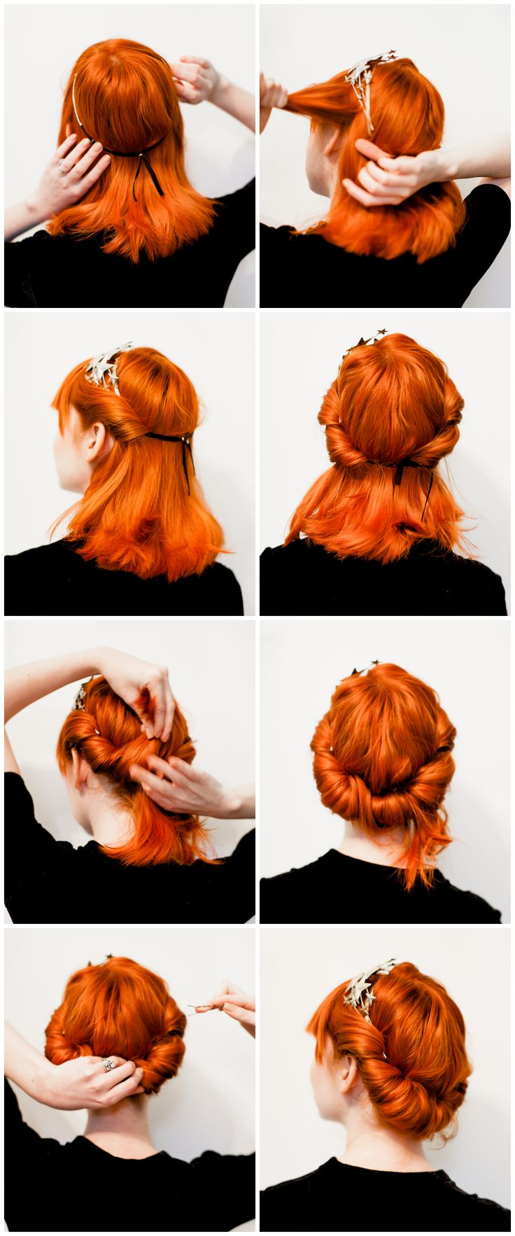 Five minute rolled updo (click-through for the full tutorial)