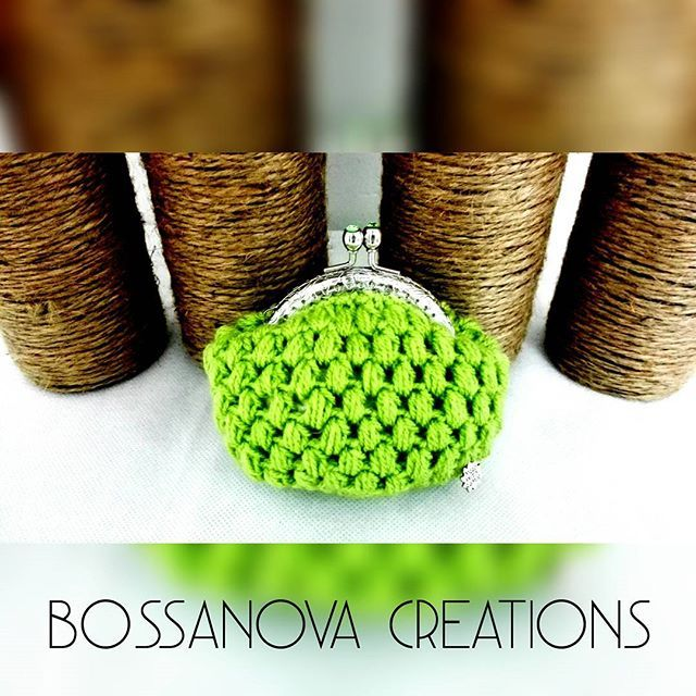 #bossanovacreations #coinpurse #ganchillo #handmade #hechoamano #crochet #crocheting #crochetaddict #picoftheday #photooftheday #knittersofinstagram #knitting #igers #igerscrochet #instaknit #instacrochet #loveit #fashion #cute #yarn #yarnlove