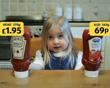 """Read more: https://www.luerzersarchive.com/en/magazine/commercial-detail/aldi-48721.html Aldi Aldi: """"Ketchup"""" [00:20]# An amusing series of spots for the Aldi chain of discount grocery stores, in which delightful testimonials (a wonderfully weird old lady and girls) show that the items stocked by Aldi are just as good as branded products. Tags: McCann, Manchester,Aldi,Dave Price,Neil Lancaster,MJ  Delaney"""