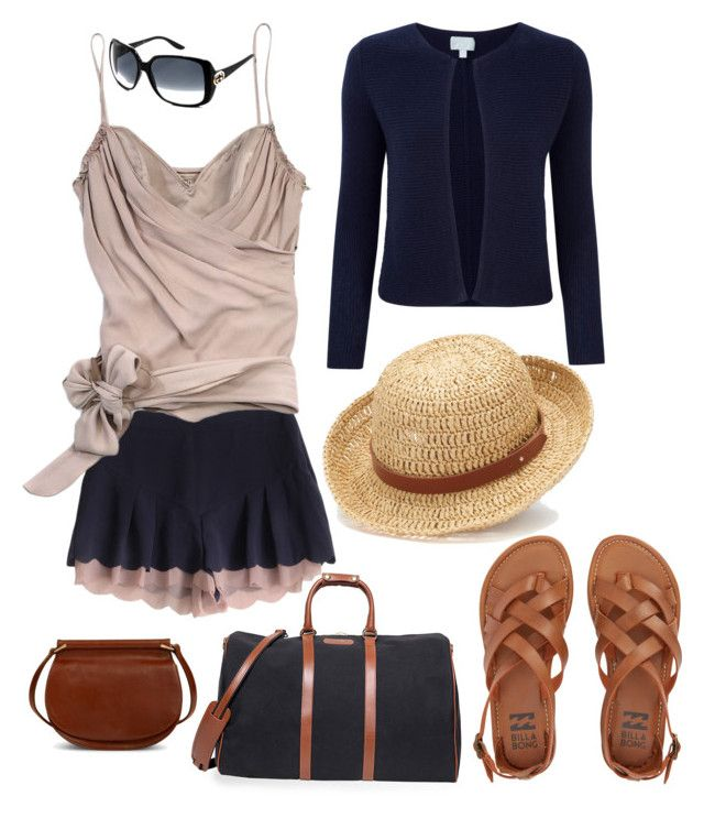 """""""Weekend away..."""" by pinnulinen on Polyvore featuring T. Anthony, Billabong, John Galliano, Pure Collection, Gucci, Vera Bradley and Chaps"""