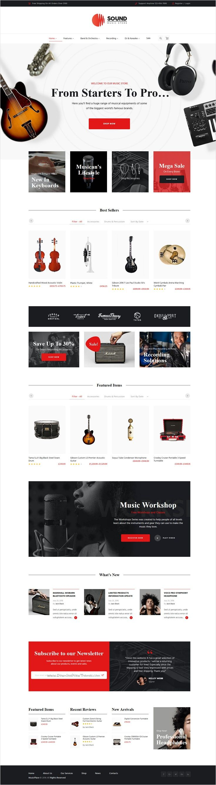 Sound is wonderful 3 in 1 responsive #WP #theme for #music #instruments online store website download now➩ https://themeforest.net/item/sound-musical-instruments-online-store/17537788?ref=Datasata