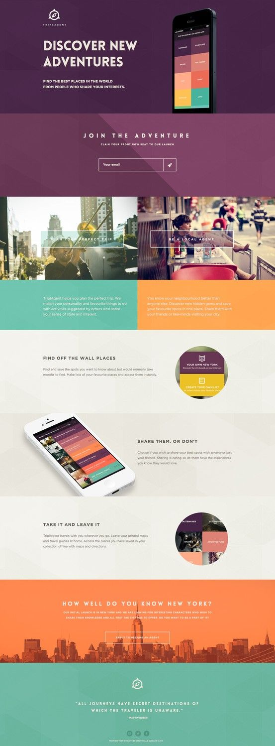 Flat web design http://triplagent.com more on http://themeforest.net/?ref=Vision7Studio