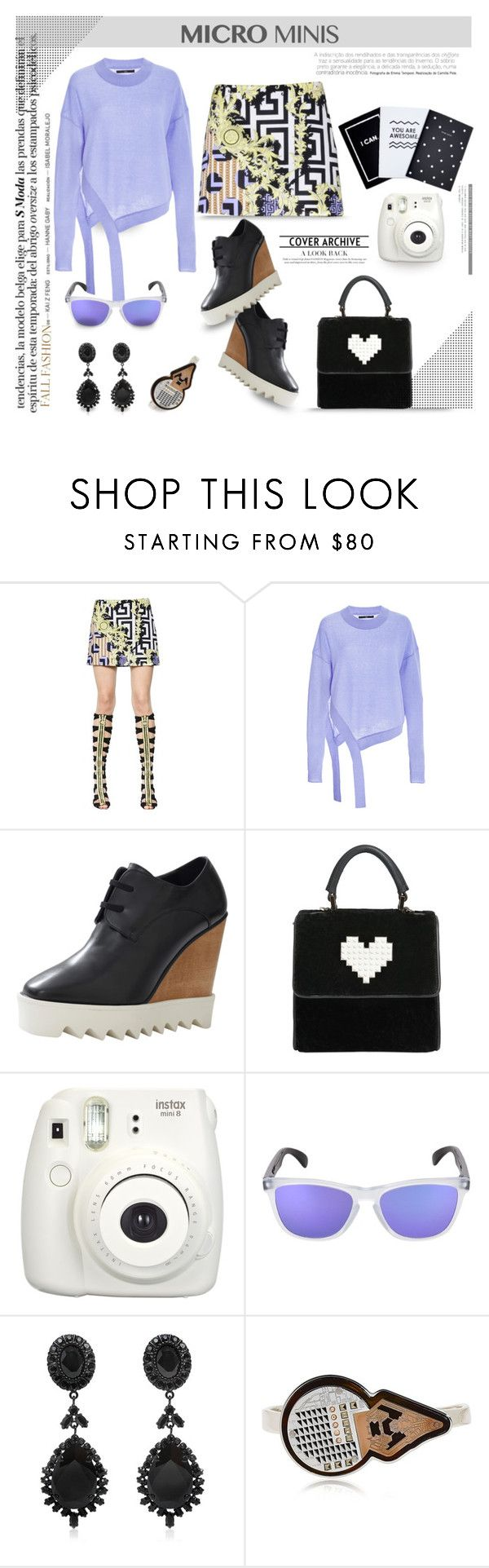 New Trend: Micro Mini Skirts... by unamiradaatuarmario on Polyvore featuring mode, TIBI, Versace, STELLA McCARTNEY, Les Petits Joueurs, Givenchy, LedaOtto, Oakley and microminis