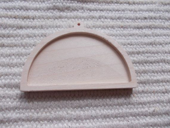 1 pc unfinished half round-shaped wooden pendant base with wooden loop,jewel tray,half round pendant setting, blank resin tray.  1 piece ash or dark walnut wooden half-round shaped pendant base for jewel making. In the centre of the pendant there is a cutout, which gives a more attractive look to the pendant. You can put a little picture, textil or napkin into the cutout too. https://www.etsy.com/listing/191726999/1-pc-unfinished-half-round-shaped-wooden?