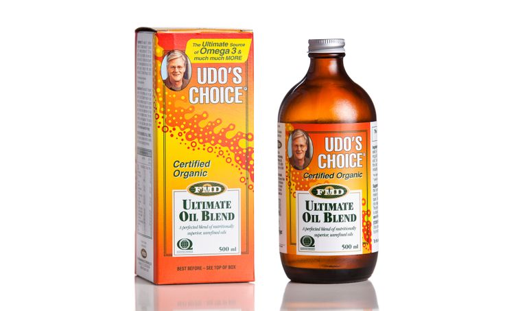 Udo's Choice® Ultimate Oil Blend (Udo's Oil) delivers a balanced 2:1:1 ratio of omega-3, omega-6 and omega-9 essential fatty acids