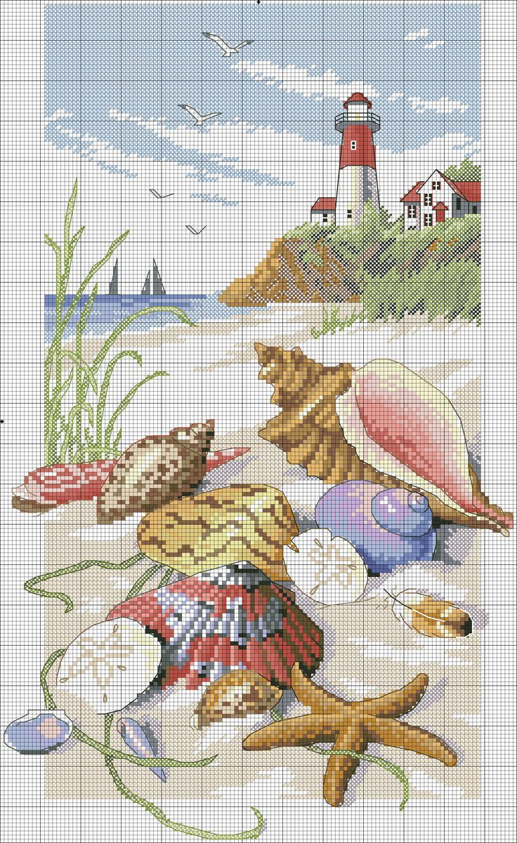 seashells & lighthouse - dup but diff source; diff size -- color code the same