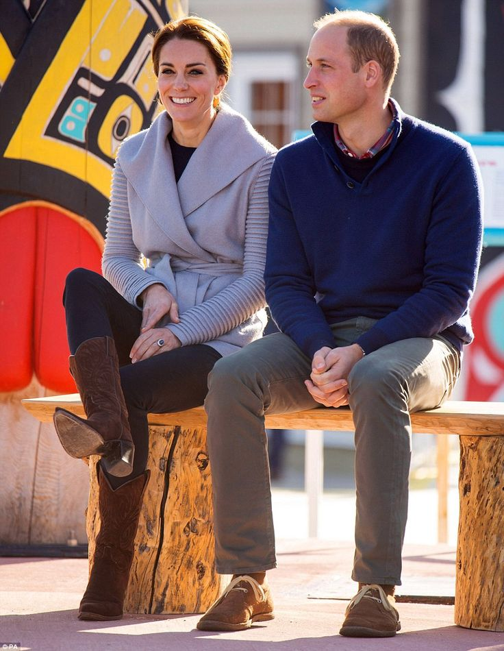William and Kate both slipped into something more comfortable for their journey to the small town of Carcross