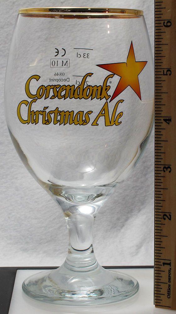 Corsendonk Christmas Ale Stemmed Glass Goblet Pedestal Footed Beer Belgium