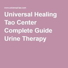 no fucking way.  Universal Healing Tao Center Complete Guide Urine Therapy