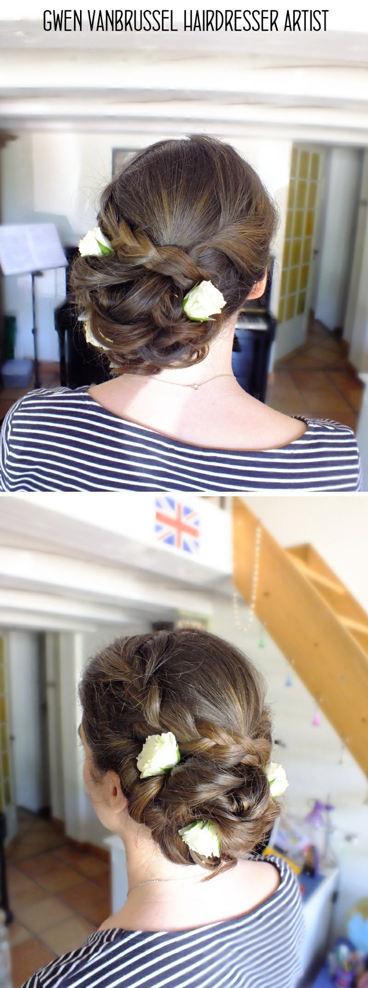 128 best ideas about coiffures maquillages mariage on pinterest wedding champs and inspiration - Chignon bas flou ...