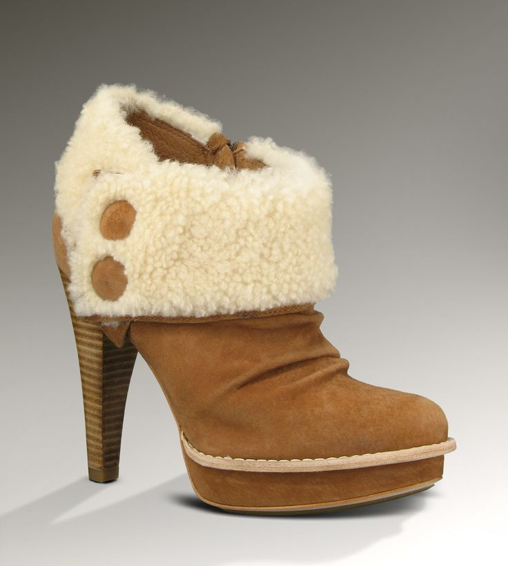 UGG® Georgette Ankle Boot for Women | Leather Ankle Bootie at UGGAustralia.com Finally a pair of UGGs I don't hate.