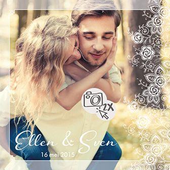 Een huwelijksuitnodiging met eigen foto. Zo wordt de kaart echt persoonlijk!