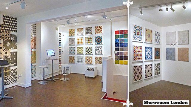 Cement tiles showroom in London