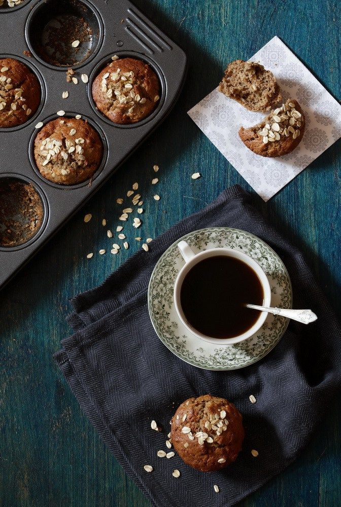 You have to make this for brunch. Banana Rye Muffin