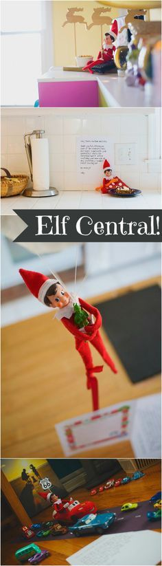 We love these fun ideas for Elf on the Shelf! | Peanut Blossom
