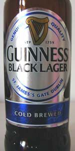 Guinness Black Lager.  Less Guinness more black.  There is a roasted malty flavor that has a chalky after taste.  I prefer regular Guinness over this. 5.