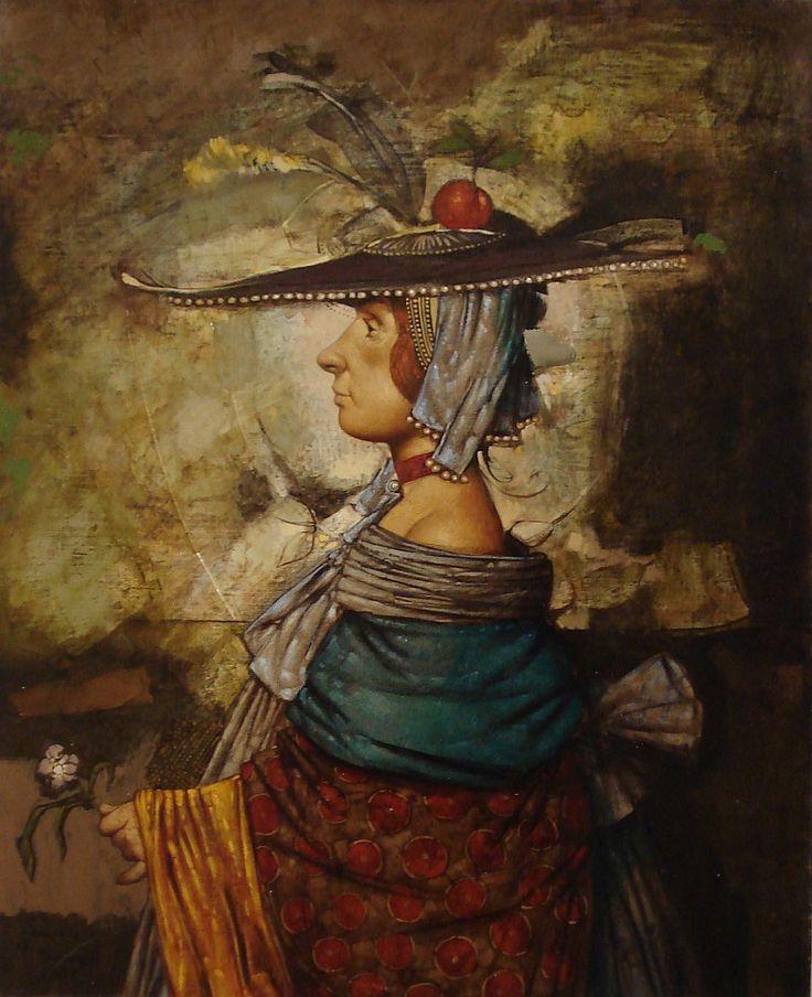 """Daron Mouradian  -  """"Retrato con manzana / Portrait with apple"""""""