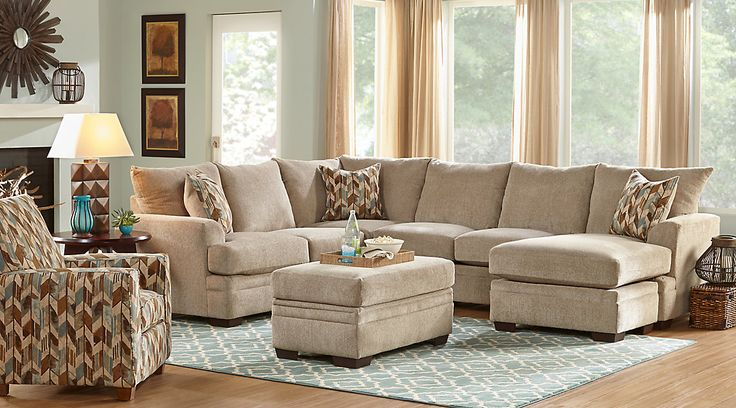 Brenton Court Platinum 5 Pc Sectional Living Room Family