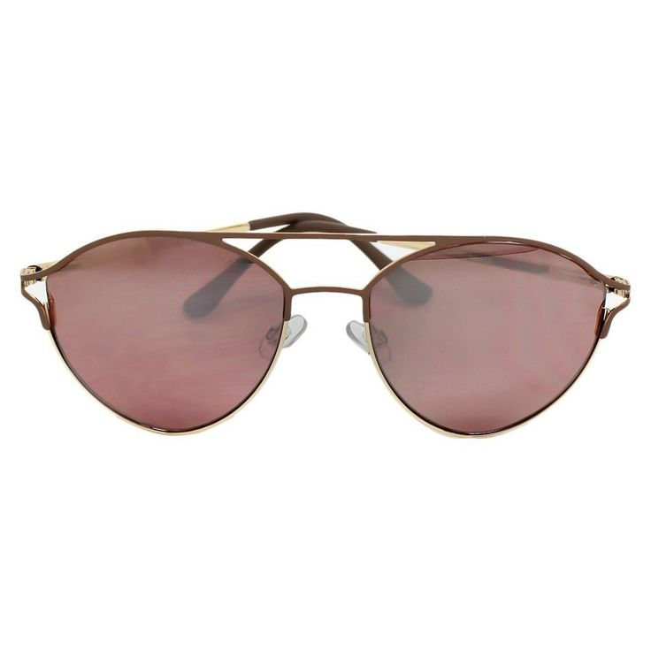 Women's Aviator Sunglasses - Rosegold/Nude, Rose Gold
