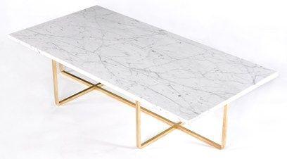 Ninety Table XL - marmor/mässing