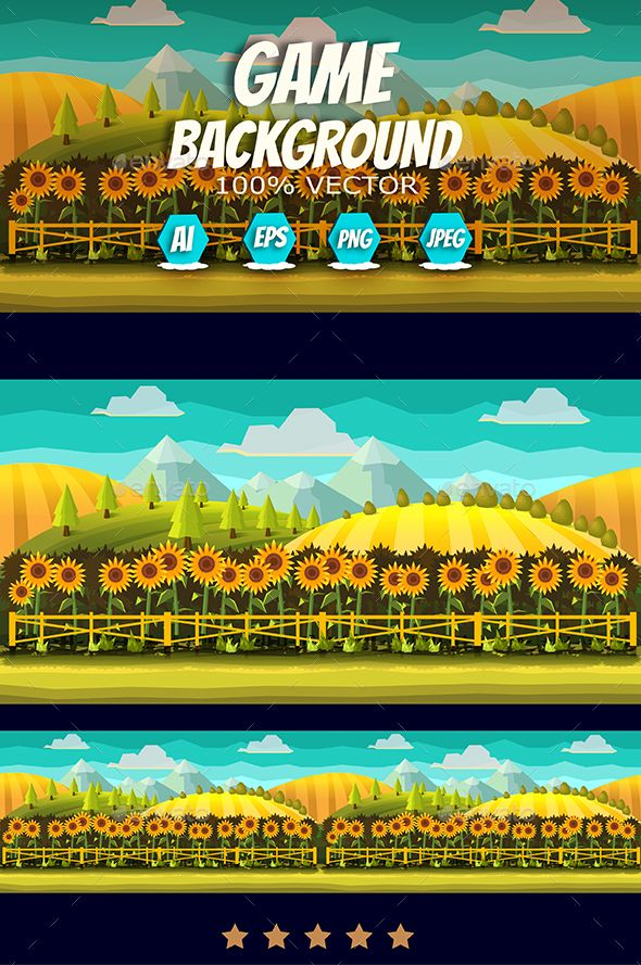 Sunflowers Game Background