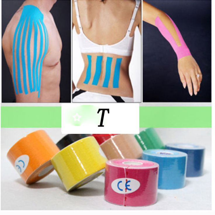 kinesio tape 5cm 5m Muscle Bandage Tape  Sports Kinesiology Tape  Roll Cotton Elastic Adhesive Strain Injury Muscle stickers #clothing,#shoes,#jewelry,#women,#men,#hats,#watches,#belts,#fashion,#style