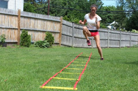 20 min Agility Ladder Workout with DIY ladder. #weightloss #cardio #funworkout